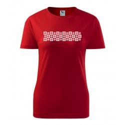 Dámské tričko - vánoční vločky