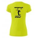 Dámské sportovní tričko - Nenahrávejte mi, volejbal