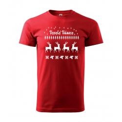 """Pánské tričko - Veselé Vánoce """"svetr se sobem"""""""