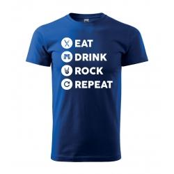 Pánské tričko - Eat, Drink, Rock, Repeat