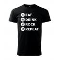 Pánské triko - Eat, Drink, Rock, Repeat