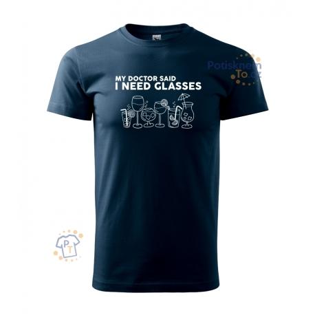 Pánské tričko - I need glasses