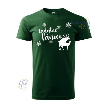 Pánské triko - Radostné Vánoce s jeleny