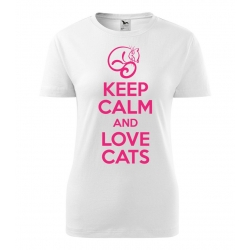Dámské triko - Keep calm and love cats