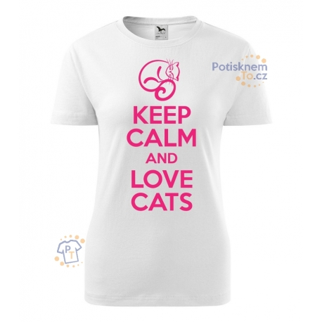 Dámské tričko - Keep calm and love cats