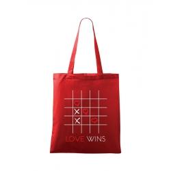 Plátěná taška - Love wins