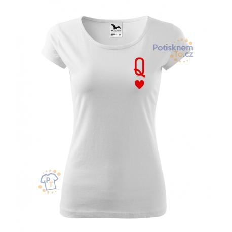 Dámské triko - Karetní královna