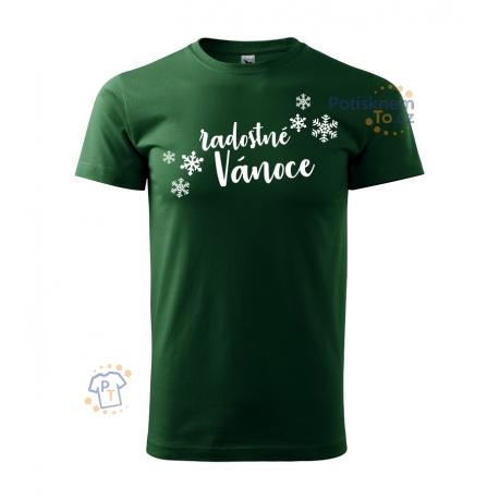 Pánské triko - Radostné Vánoce