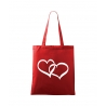 Plátěná taška - Spojená srdce