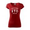 Dámské triko - Cvičím pravidelně každý večer