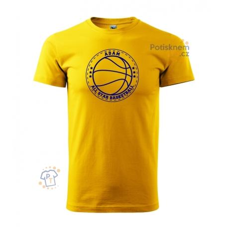 """Dětské tričko - All star basketball """"vlastní jméno"""""""