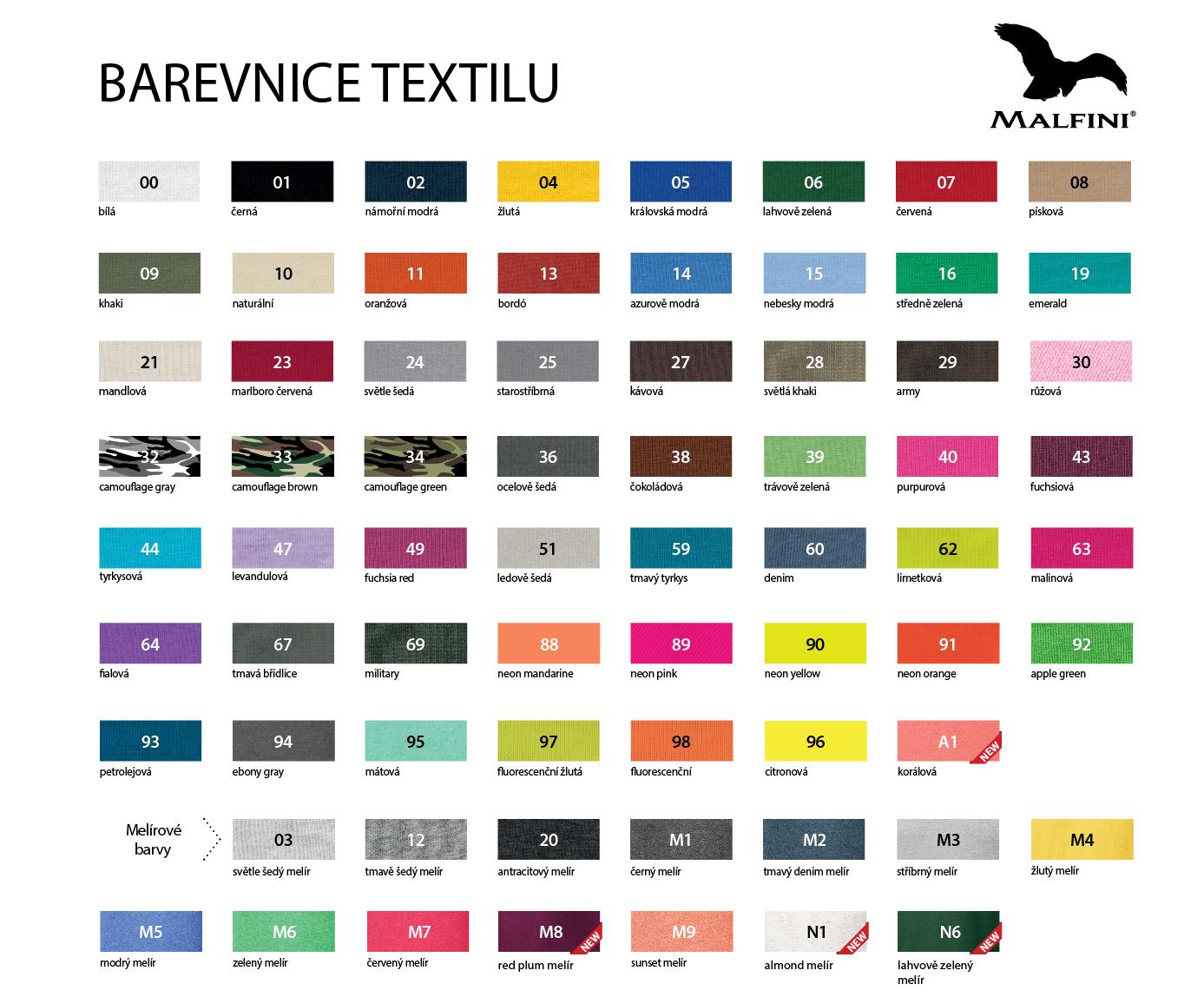 Barevné varianty textilu